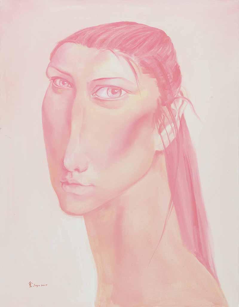 1粉色信仰70X90CM 2017年 布面油画