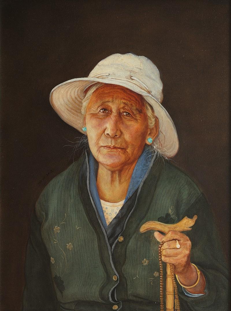 金玉 藏民表情之慈祥和蔼 60X80CM 2012年 布面油画