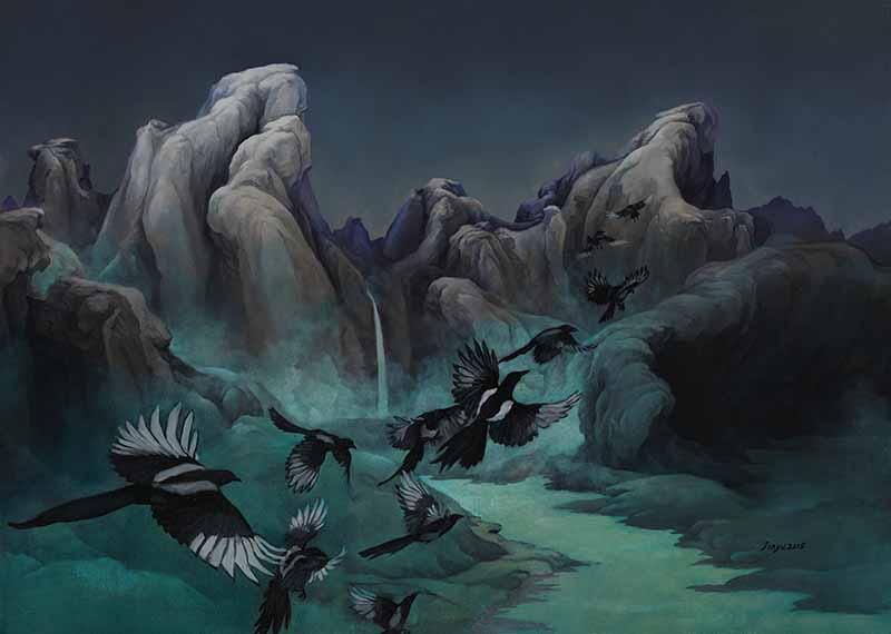 金玉 中国山水 50x70cm 2015年 布面油画