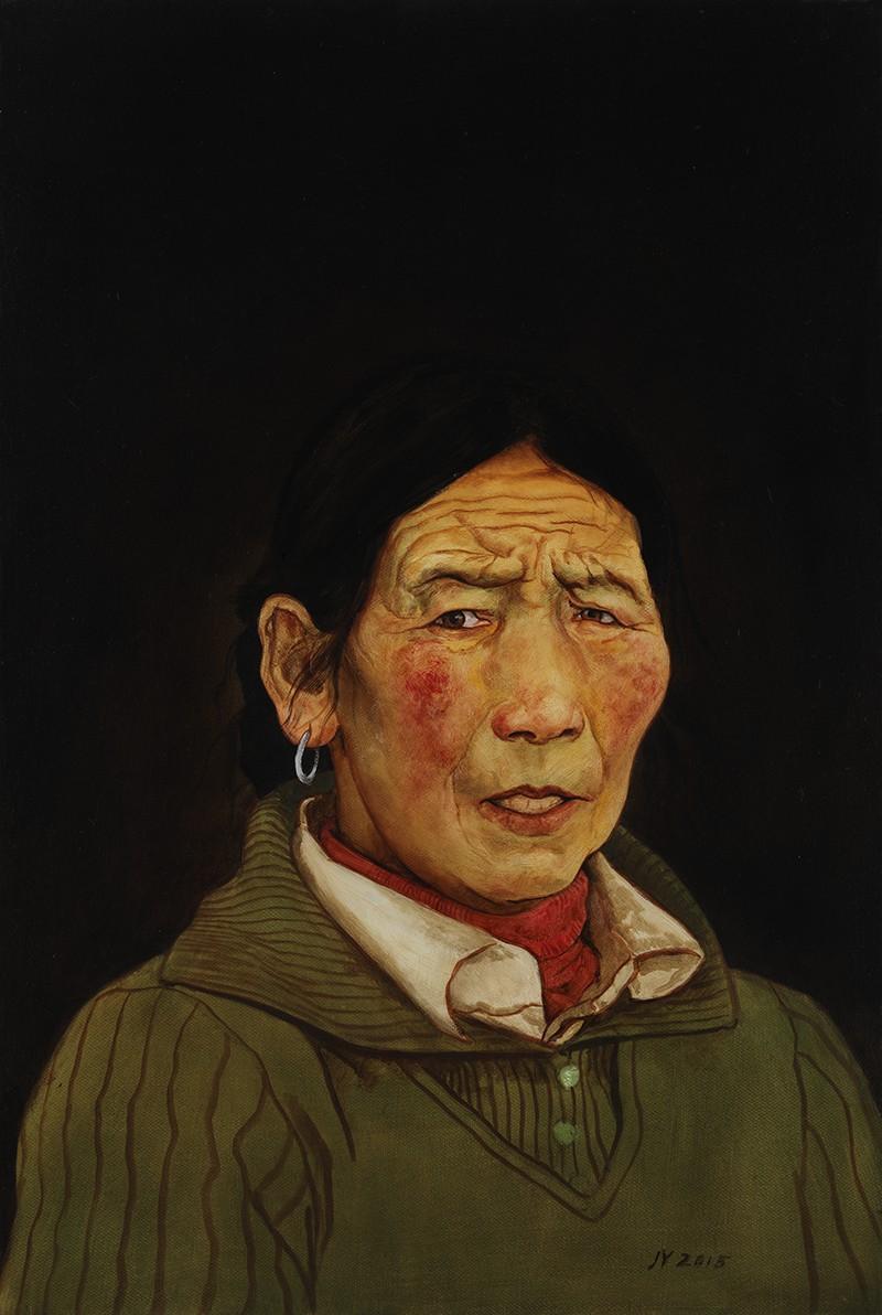 金玉 藏民肖像2 60x70cm 2012年 布面油画