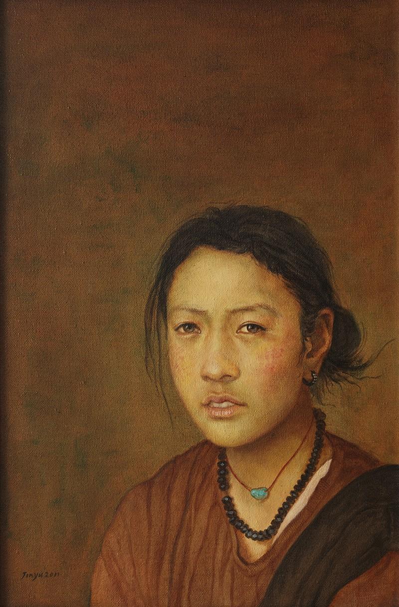 金玉 藏民表情之秋水盈盈 40X60CM 2012年 布面油画